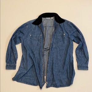 Vintage zip up long sleeve